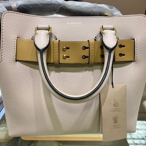 White leather bag-- new with tags. Never used.